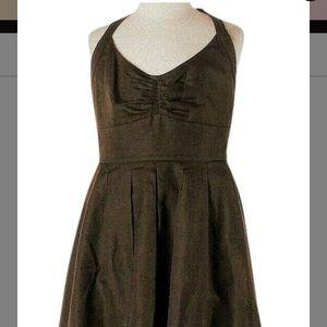 J Crew brown BNWT halter dress 👗,size 6P